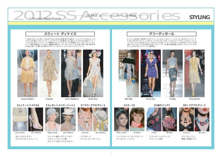 2012/SS Collection Trend [Accessories] by PREAL Slide 2