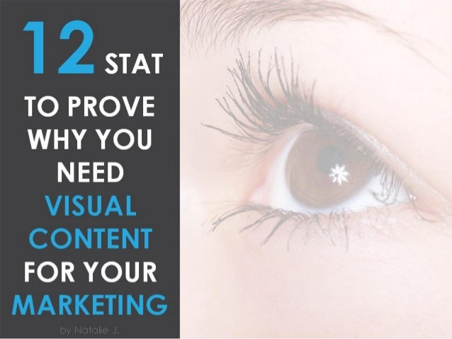 1 2 STAT  TO PROVE WHY YOU  NEED VISUAL CONTENT  FOR YOUR MARKETING