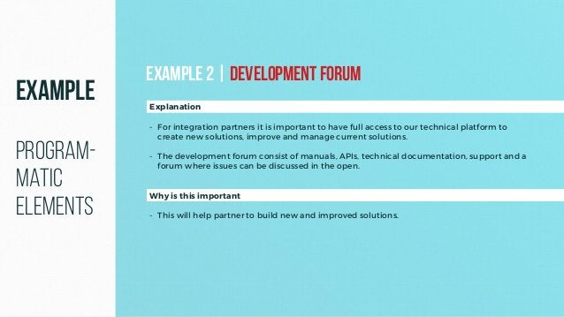 Why is this important - This will help partner to build new and improved solutions. Explanation - For integration partners...