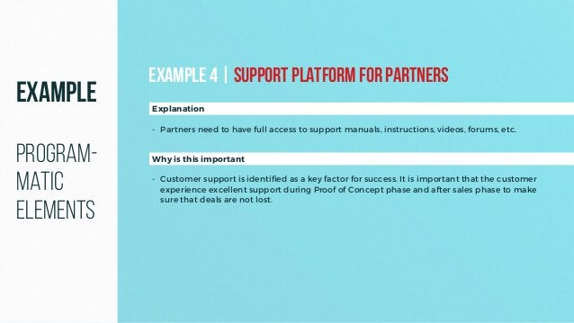 Why is this important - Customer support is identified as a key factor for success. It is important that the customer expe...