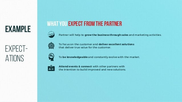 Partner will help to grow the business through sales and marketing activities. To focus on the customer and deliver excell...