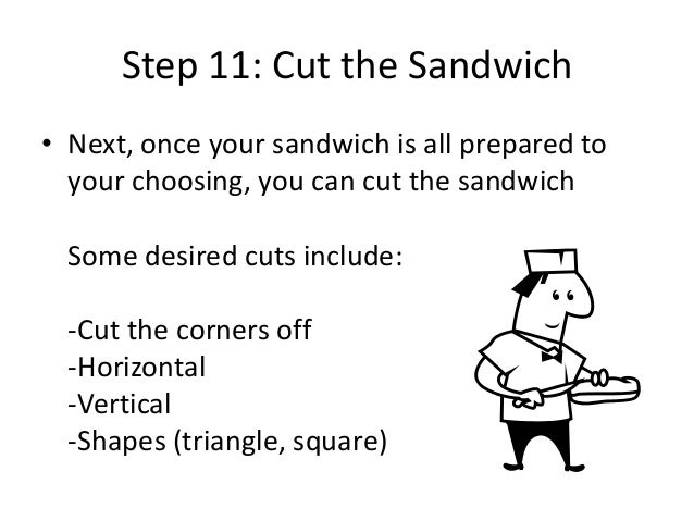 12 Steps To Making A Sandwich