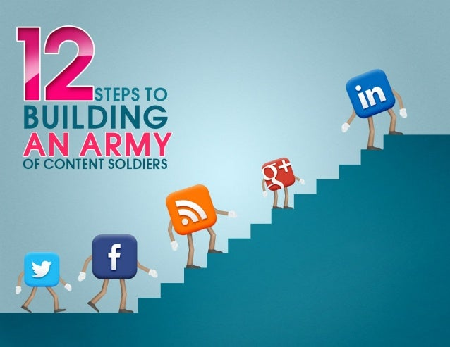 STEPSTO ® BUILDING  OF CONTENT SOLDIERS  up .