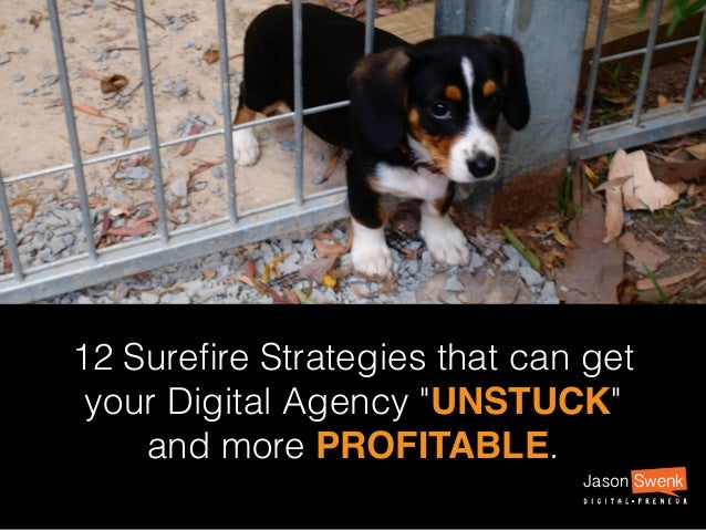 "12 Surefire Strategies that can get your Digital Agency ""UNSTUCK"" and more PROFITABLE."