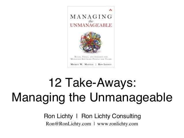 12 Take-Aways:
