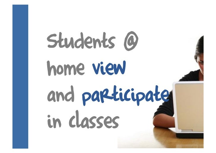 Students @ home view and participate in classes