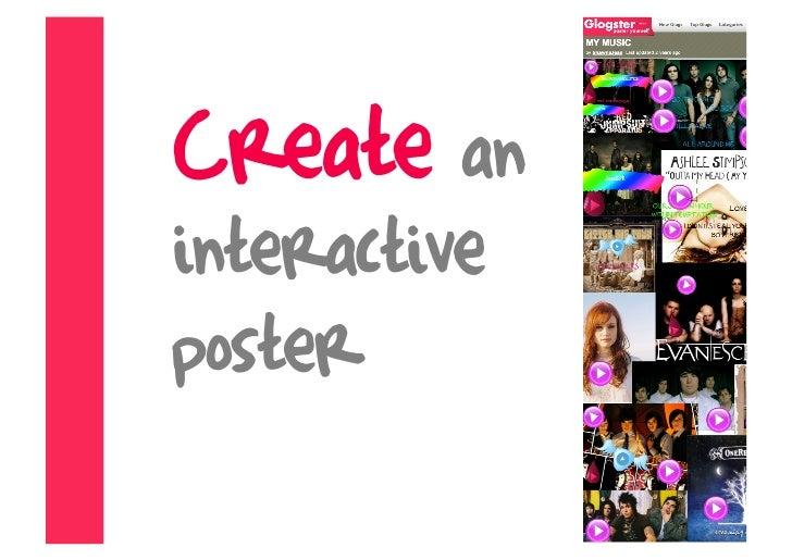 Create an interactive poster