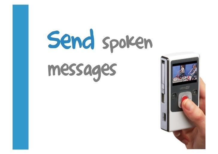 Send spoken messages
