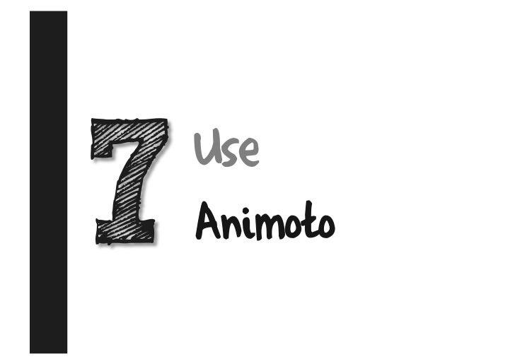 Use Animoto