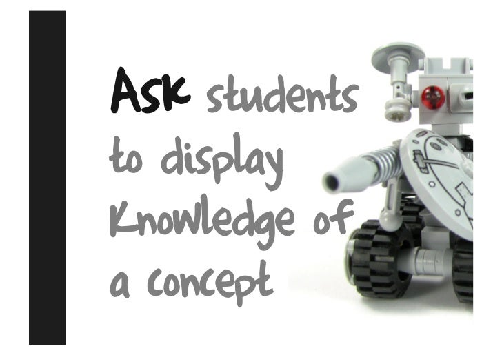Ask students to display Knowledge of a concept