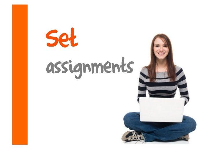 Set assignments