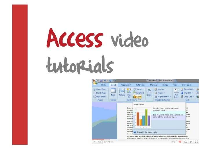 Access video tutorials