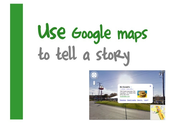 Use Google maps to tell a story