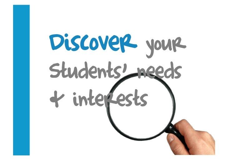 Discover   your Students' needs & interests