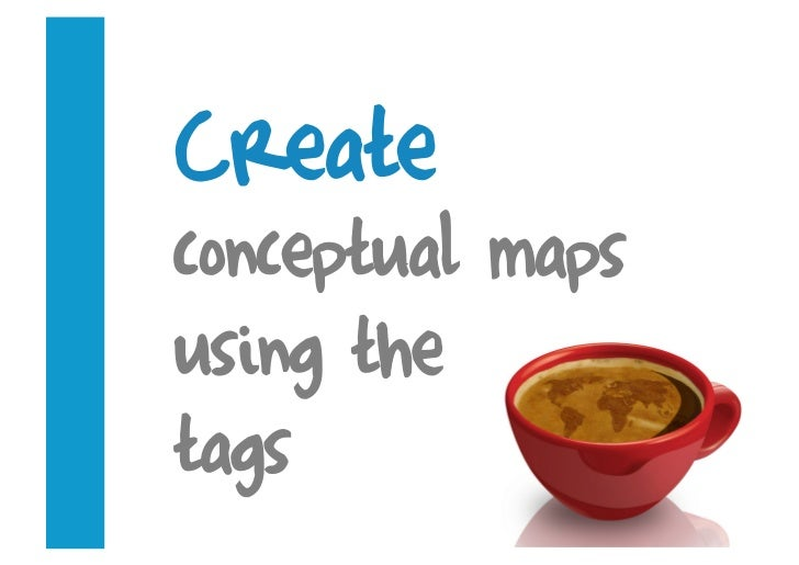 Create conceptual maps using the tags