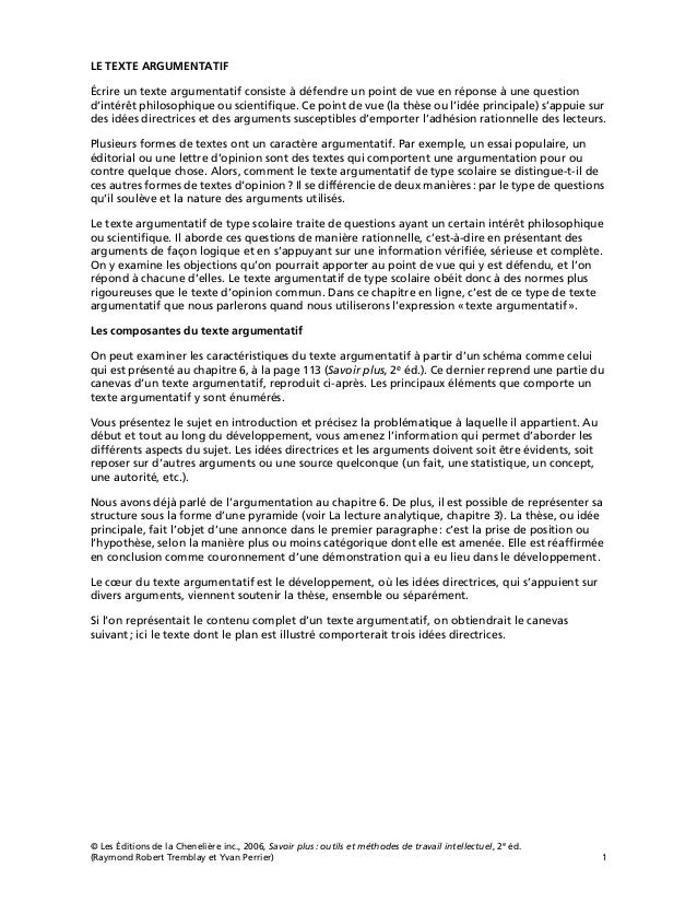 © Les Éditions de la Chenelière inc., 2006, Savoir plus: outils et méthodes de travail intellectuel, 2e éd. (Raymond Rober...