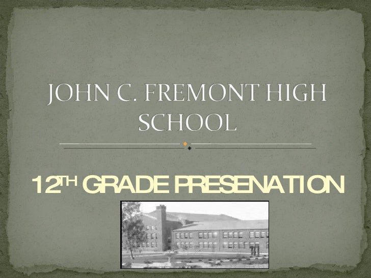 12 TH  GRADE PRESENATION