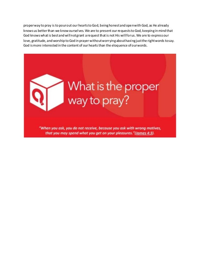 12th March 2017  - What is the proper way to Pray Slide 3