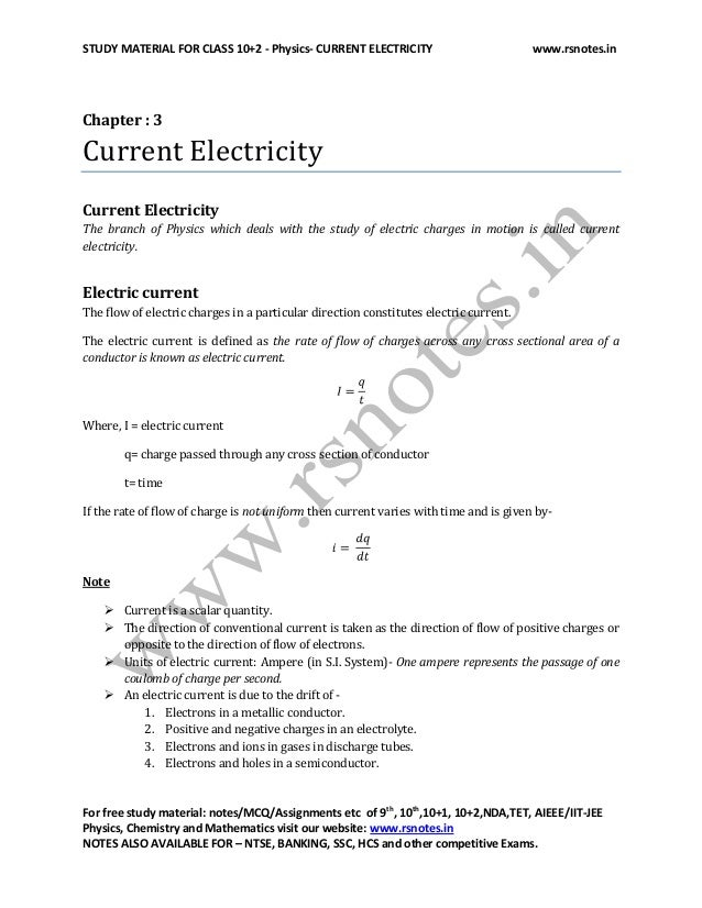 12th physics current electricity by shykh salam
