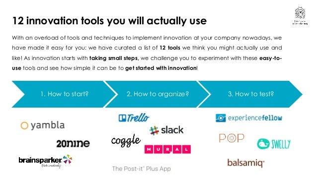 12 tools to boost your company's innovation skills Slide 2