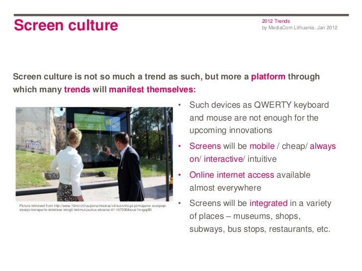 2012 TrendsScreen culture                                                                                                 ...