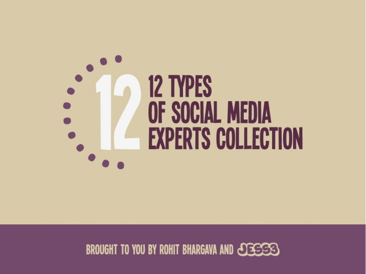 12 Types of Social Media Experts