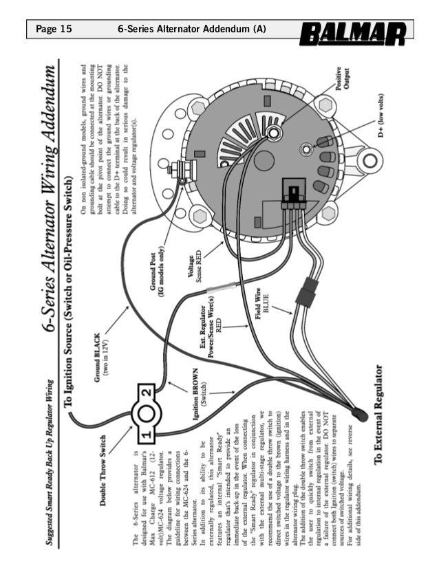 Page 15 6-Series Alternator Addendum (A) ...  sc 1 st  SlideShare : 24v alternator wiring diagram - yogabreezes.com