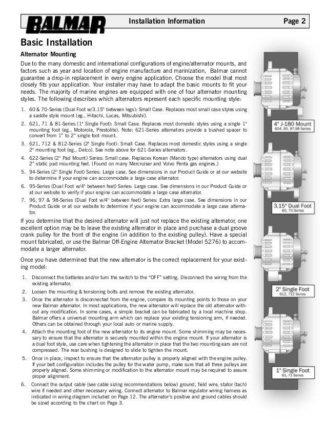 12 v alternator manual w 90series drawing 2 installation information basic installation alternator