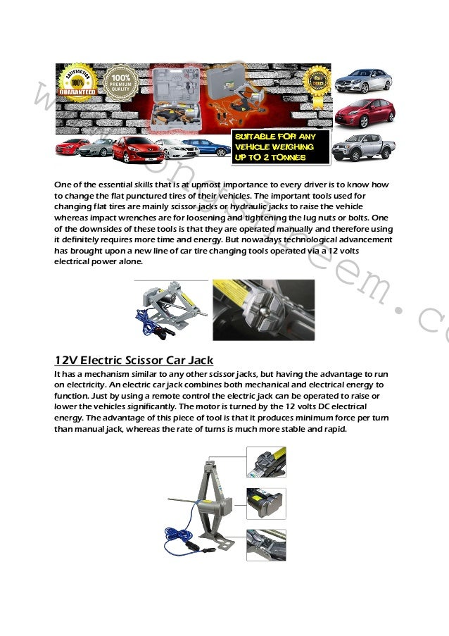 What is a 12v Electric Car Jack?
