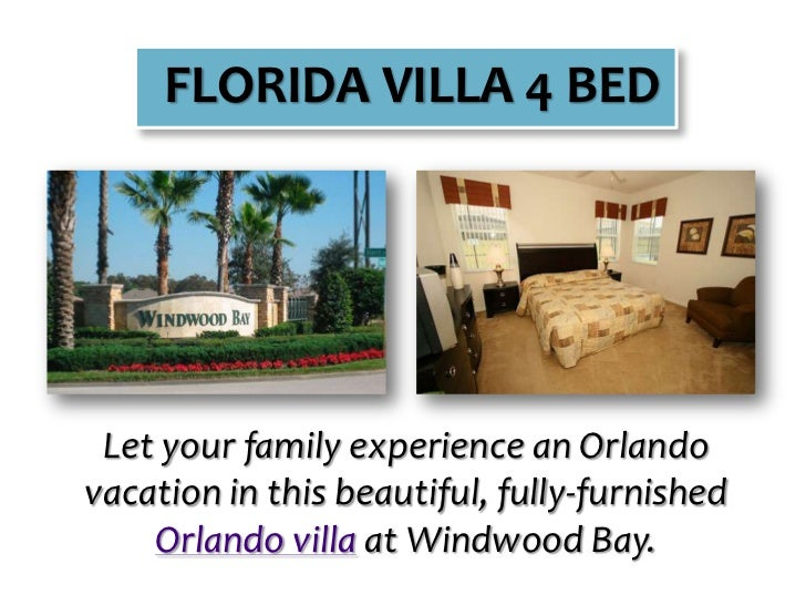 FLORIDA VILLA 4 BED<br />Let your family experience an Orlando vacation in this beautiful, fully-furnished Orlando villa a...