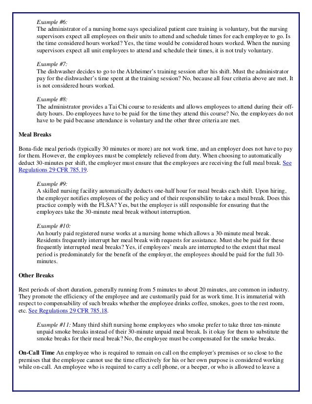 ATX22 Assisted Living Day Handout - Wage & Hour Hours Worked