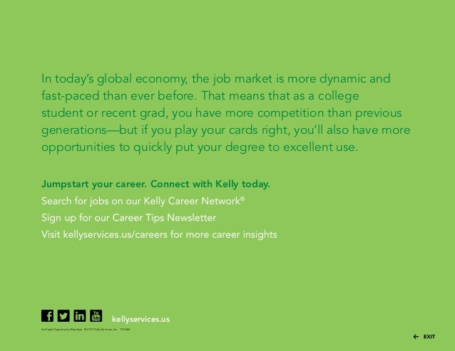 ... 12. In Todayu0027s Global Economy, The Job Market ...