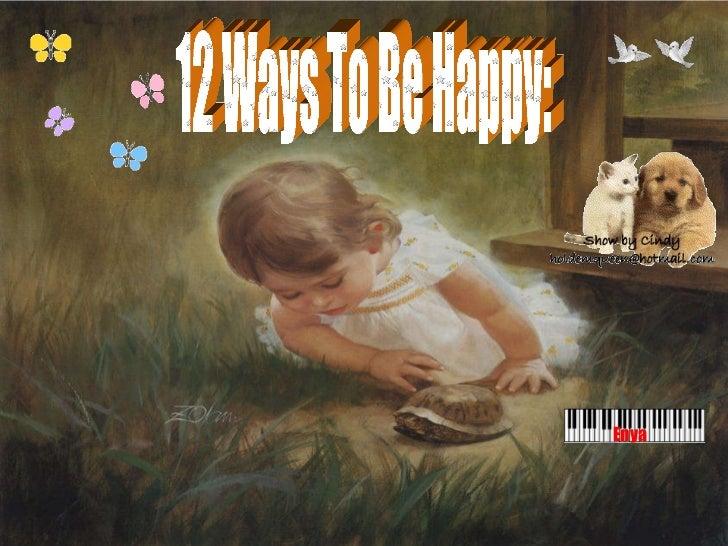 12 Ways To Be Happy: Enya
