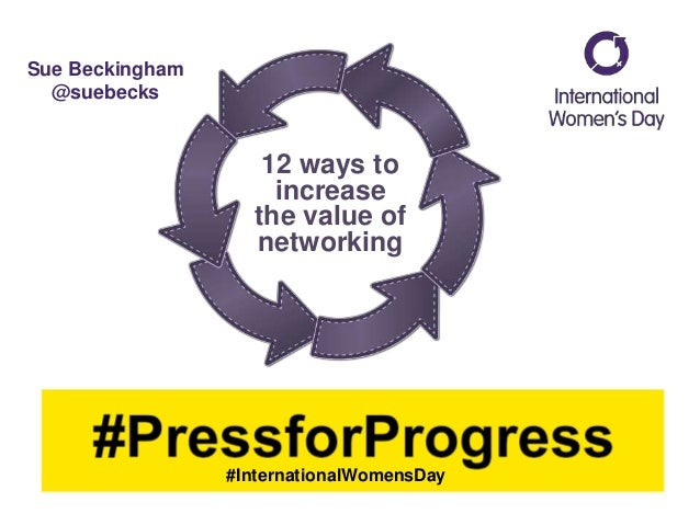 12 ways to increase the value of networking #InternationalWomensDay Sue Beckingham @suebecks