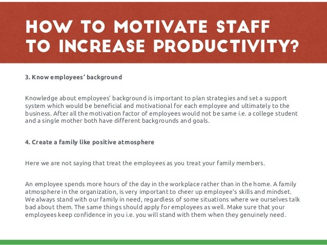 important factors in employee motivation essay This essay will focus on motivation in an educational context and the importance to provide opportunities and motivation for students the purpose of this essay is to present a theoretical overview of the key differences between content theories and process theories of motivation.
