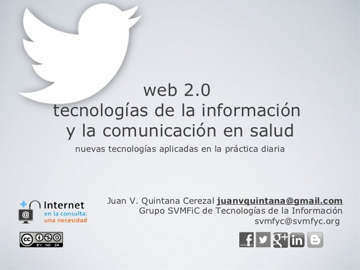 web 2.0tecnologías de la información  y la comunicación en salud  nuevas tecnologías aplicadas en la práctica diaria      ...