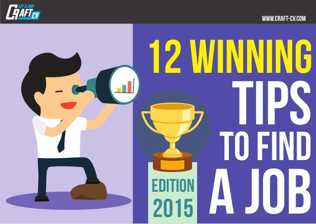 12 winning tips to find a job2015 edition