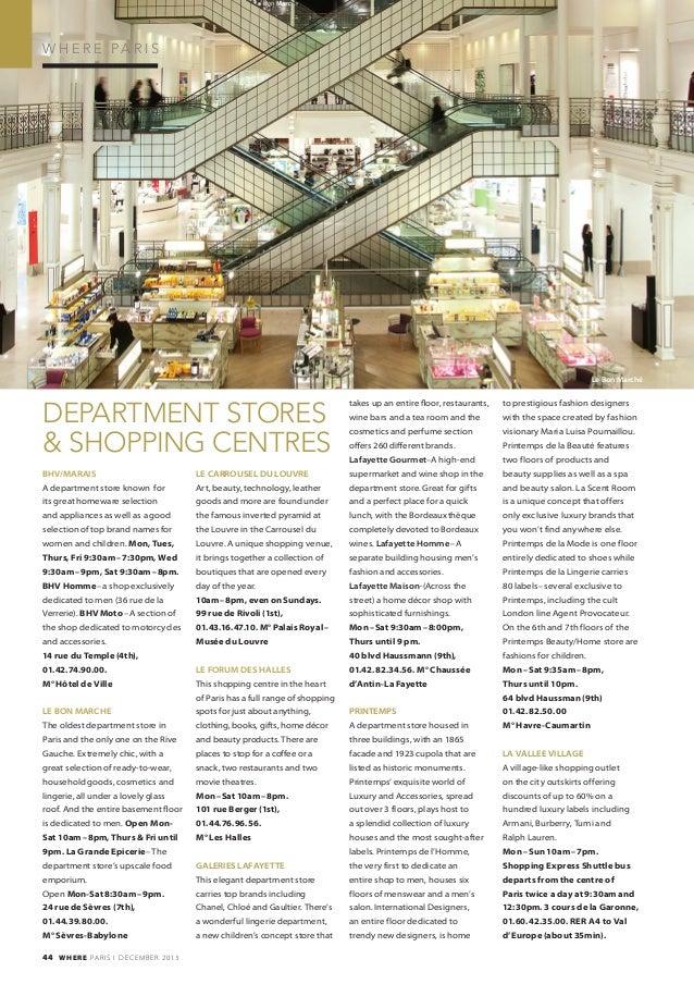 9535d334b Magazine Where Paris n°239, english edition, daté décembre 2013