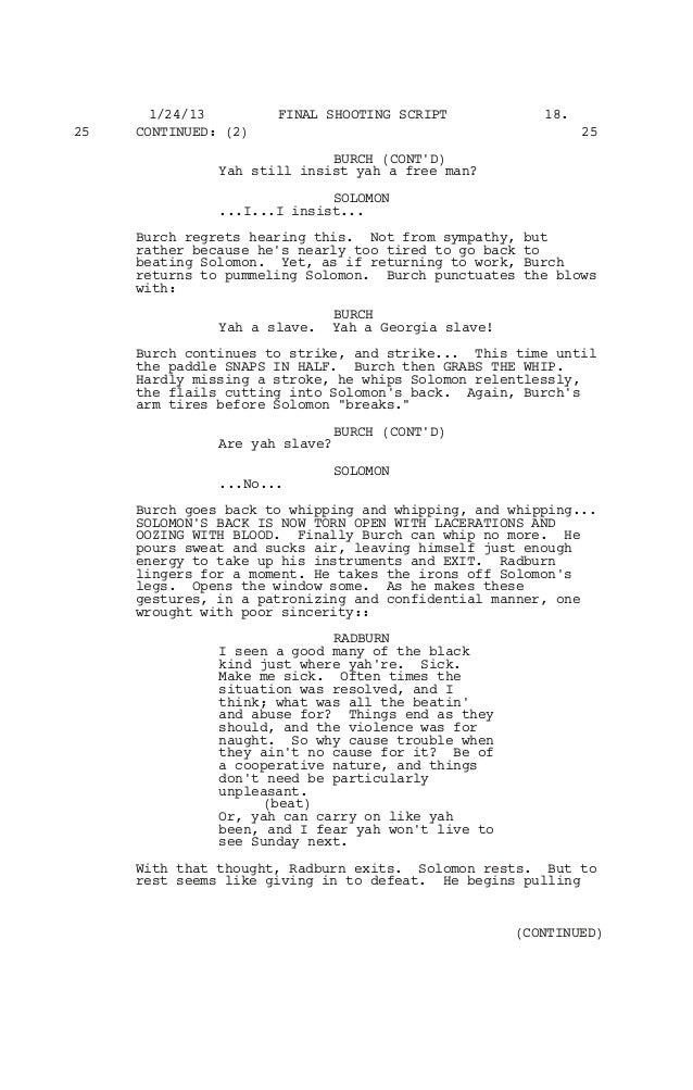 12 YEARS A SLAVE SCREENPLAY PDF