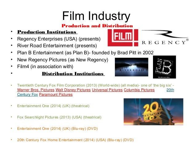 Film industry Marketing Connections • 12 Years a Slave received support by celebrities such as Kanye West and Sean Combs. ...