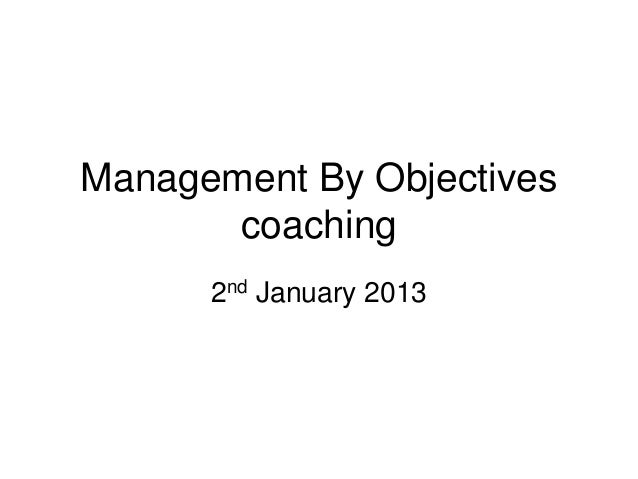 Management By Objectives       coaching      2nd January 2013