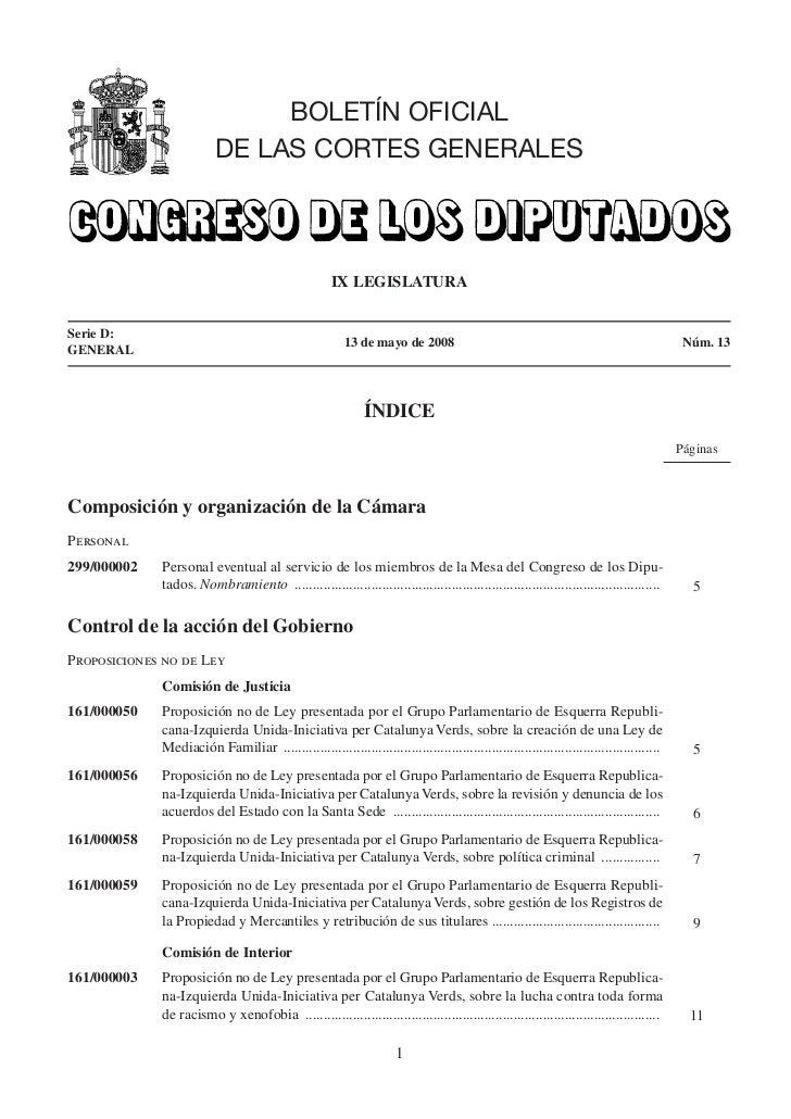 BOLETÍN OFICIAL                          DE LAS CORTES GENERALES                                                      IX L...