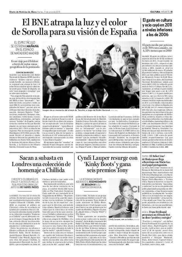 El gasto en ocio y cultura (Diario Noticias de Alava)