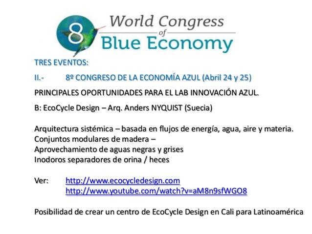 TRES EVENTOS: II.-  8º CONGRESO DE LA ECONOMÍA AZUL (Abril 24 y 25)