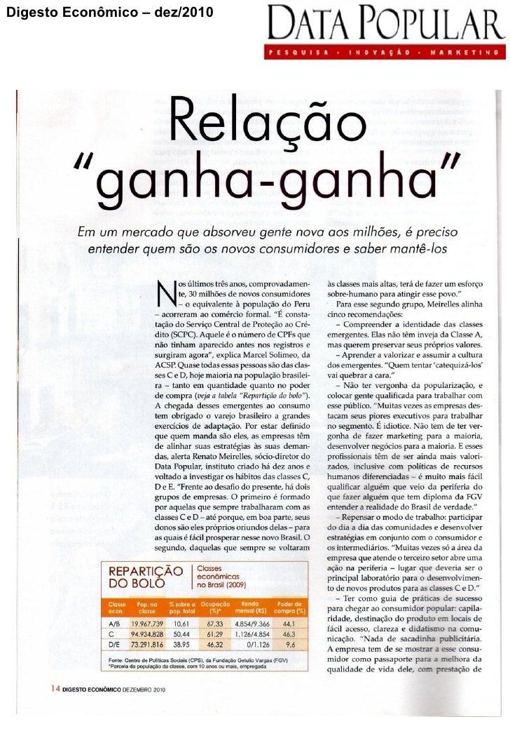 Digesto Econômico – dez/2010