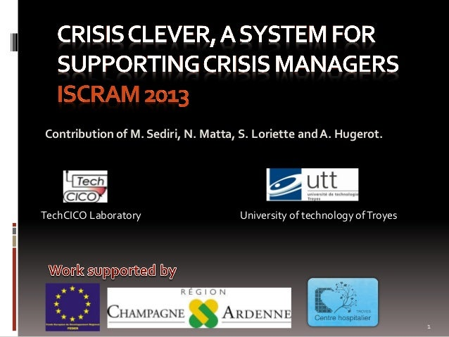 Contribution of M. Sediri, N. Matta, S. Loriette and A. Hugerot. TechCICO Laboratory University of technology ofTroyes 1