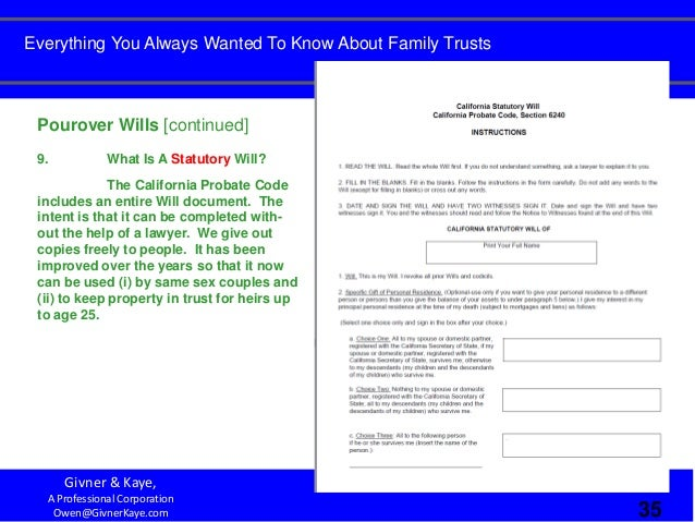 Everything You Always Wanted To Know About Family Trusts But Were Afr…