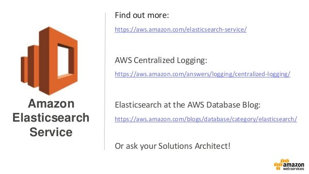 Find out more: https://aws.amazon.com/elasticsearch-service/ AWS Centralized Logging: https://aws.amazon.com/answers/loggi...