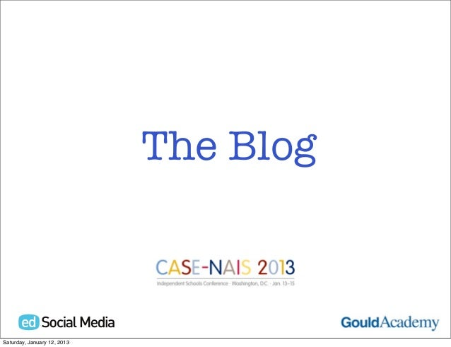 The BlogSaturday, January 12, 2013