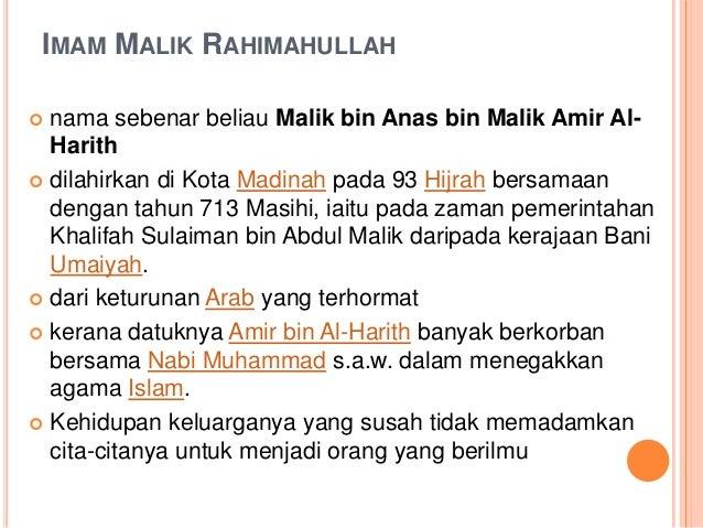 13 9 2012 Imam Malik